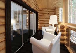 Предметы мебели в интерьере балкона. Стиль шале: Tерраса в . Автор – A-partmentdesign studio