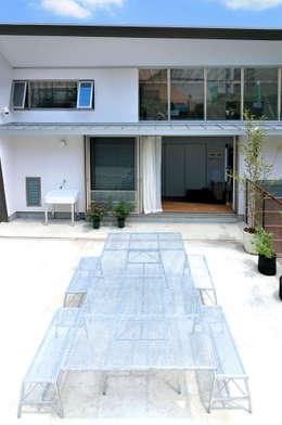 K-HOUSE: 株式会社長野聖二建築設計處が手掛けたベランダです。