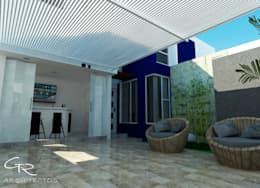 House Mundos Paralelos : Terrazas de estilo  por GT-R Arquitectos