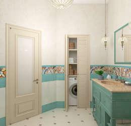 mediterranean Bathroom by Студия дизайна Дарьи Одарюк