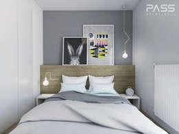 scandinavische Slaapkamer door PASS architekci