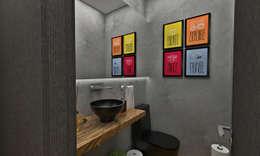 Lavabo: Banheiros ecléticos por Atelier Par Deux