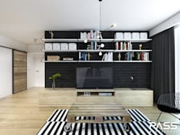 industrial Living room by PASS architekci