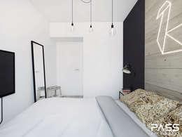 Dormitorios de estilo  por PASS architekci