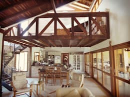 Salas / recibidores de estilo rústico por Zani.arquitetura