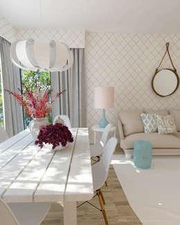 Salon de style de style eclectique par Andreia Alexandre Interior Styling