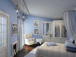 mediterranean Bedroom by ELLE DESIGN STUDIO