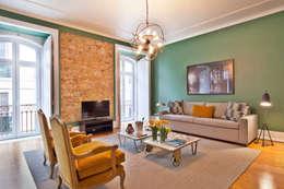 Salas/Recibidores de estilo clásico por Pureza Magalhães, Arquitectura e Design de Interiores