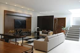 Projekty,  Salon zaprojektowane przez A/ZERO Arquitetura