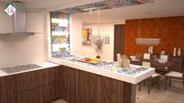 Casa Arán: Cocinas de estilo clásico por ISLAS & SERRANO ARQUITECTOS