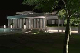 Casas de estilo mediterráneo por Estudio de Arquitectura e Interiorismo  José Sánchez Vélez. 653773806