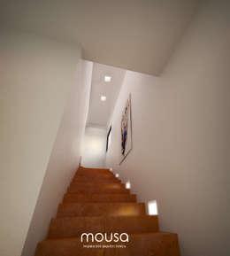 Casa Alor: Pasillos y recibidores de estilo  por mousa / Inspiración Arquitectónica