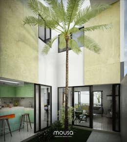 Casa Alor: Jardines de estilo moderno por mousa / Inspiración Arquitectónica