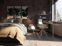 """""""Kurwa-house"""" : Спальни в . Автор – Дизайн-мастерская 'GENESIS'"""