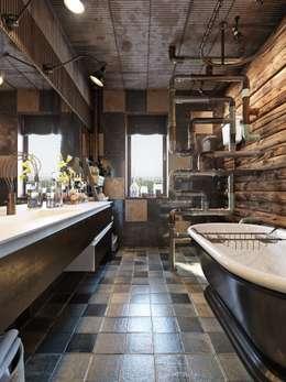 Baños de estilo industrial por Дизайн-мастерская 'GENESIS'