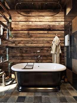 """Kurwa-house"" : Ванные комнаты в . Автор – Дизайн-мастерская 'GENESIS'"