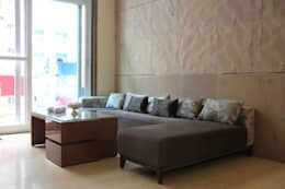 Mehra's Residence: modern Living room by Studio Ezube