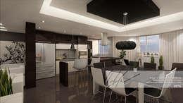 Comedor, Cocina: Cocinas de estilo minimalista por Arq.AngelMedina+