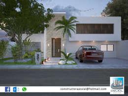 Collage de proyectos:  de estilo  por Constructora Asvial S.A de C.V.