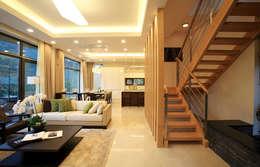 Projekty,  Salon zaprojektowane przez 한글주택(주)