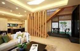modern Living room by 한글주택(주)