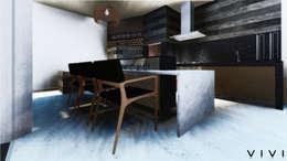 Garajes y galpones de estilo moderno por Vivi Arquitetura & Decoração