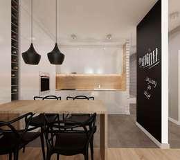 kuchnia z salonem: styl , w kategorii Kuchnia zaprojektowany przez Ale design Grzegorz Grzywacz