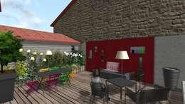 Jardin suspendu: Terrasse de style  par Anthemis Bureau d'Etude Paysage