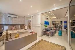 Apartamento Cinza Citrino: Quartos  por Emmilia Cardoso Designers Associados