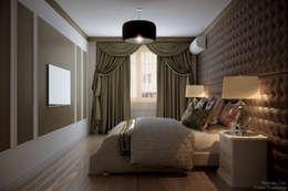 """Дизайн спальни частного дома в коттеджном поселке """"Бавария"""": Спальни в . Автор – Студия интерьерного дизайна happy.design"""