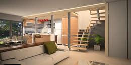 Viviendas JRV: Cocinas de estilo minimalista por Comodo-Estudio+Diseño