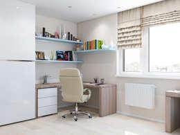 minimalistic Study/office by Tatiana Zaitseva Design Studio