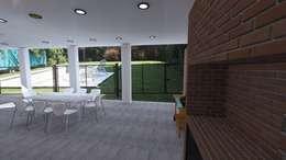 Ampliacion casa fin de semana: Jardines de estilo moderno por VHA Arquitectura