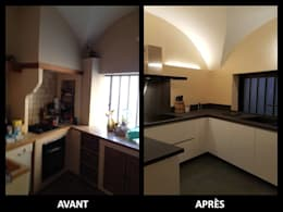 Rénovation cuisine:  de style  par Atelier MATIERES