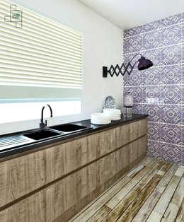 Katowice, mieszkanie 140 m kw: styl , w kategorii Kuchnia zaprojektowany przez Laura Zubel Architekt Wnętrz