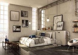 Cuartos de estilo industrial por Giuseppe Balestri