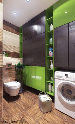 Бамбуковая ванная комната: Ванные комнаты в . Автор – Your royal design
