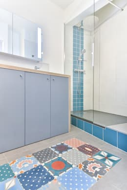 Little Loft Boulogne 43m²: Salle de bains de style  par La Decorruptible