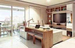 Ruang Keluarga by Alessandra Duque Arquitetura & Interiores
