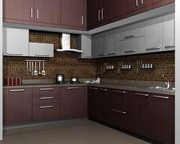 modular kitchens hydeabad: asian Kitchen by woodz modular designers and interiors
