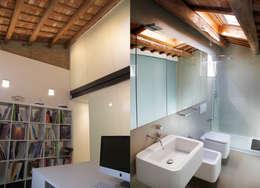 Estudio/baño: Baños de estilo minimalista de CABRÉ I DÍAZ ARQUITECTES
