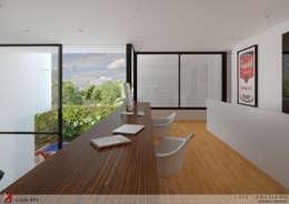 MEZANINO (HOME OFFICE):   por STUDIO LUIZ VENEZIANO