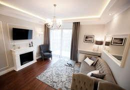 Apartament Rakowicka: styl , w kategorii Salon zaprojektowany przez AgiDesign