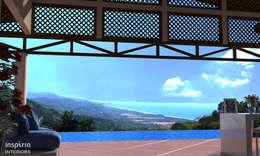 tropical Pool by Inspiria Interiors