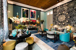 eclectic Living room by Flavia Guglielmi Arquitetura