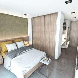 Casa Liniers: Dormitorios de estilo moderno por FILIPPIS/DIP - DISEÑO Y CONSTRUCCION