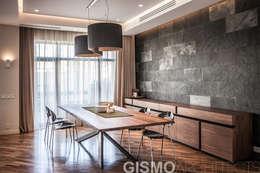 WNĘTRZA DOMU WE LWOWIE: styl , w kategorii Jadalnia zaprojektowany przez GISMOARCHITECTS