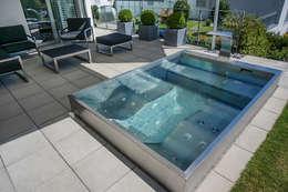 modern Pool by Polytherm GmbH.