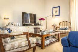 غرفة المعيشة تنفيذ Pedro Brás - Fotografia de Interiores e Arquitectura | Hotelaria | Imobiliárias | Comercial