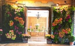 Balcones, porches y terrazas de estilo moderno por Aquilea Flores